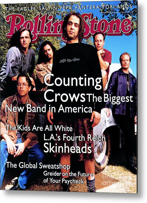 Counting Crows Metal Print featuring the photograph Rolling Stone Cover - Volume #685 - 6/30/1994 - Counting Crows by Mark Seliger