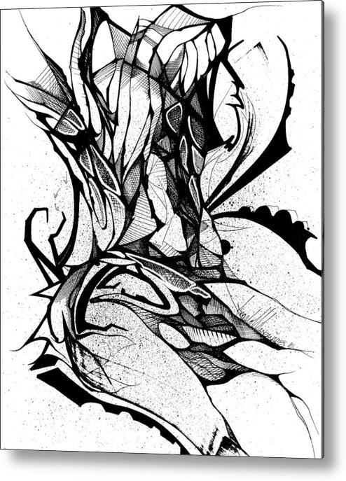 Metal Print featuring the drawing Spring by Angelo Manzanares