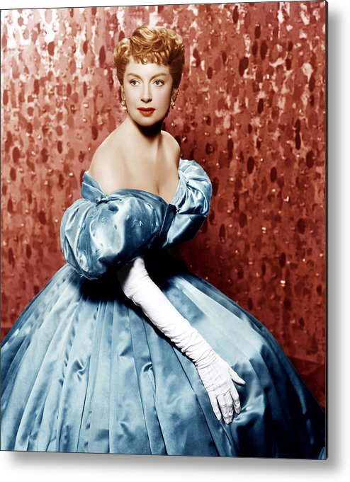 1950s Portraits Metal Print featuring the photograph The King And I, Deborah Kerr, 1956 by Everett