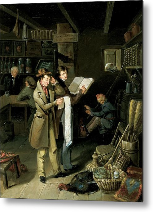 Male Metal Print featuring the painting The Long Bill by James Henry Beard