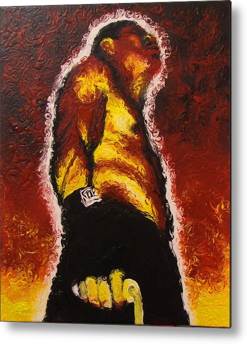 Brian Carlton Metal Print featuring the painting The Pugilist by Brian Carlton