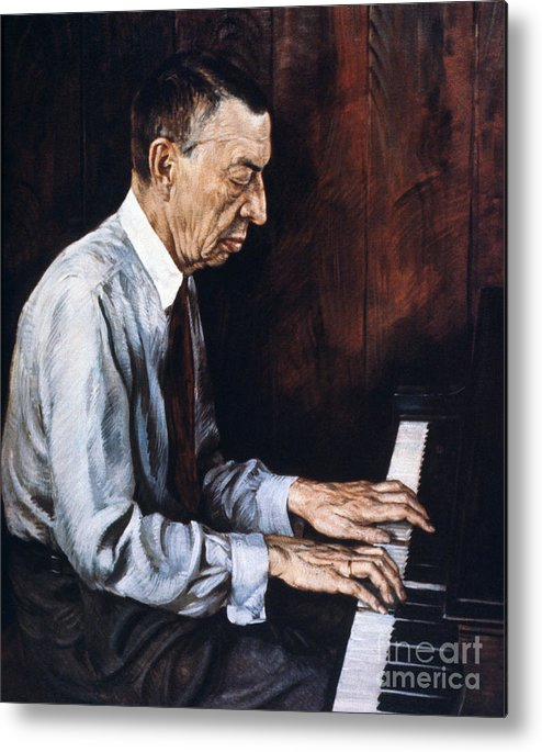 19th Century Metal Print featuring the photograph Sergei Rachmaninoff by Granger