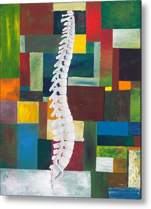 Chiropractic Metal Print featuring the painting Spine by Sara Young