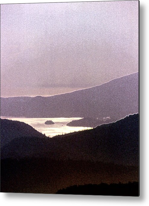 West Coast Metal Print featuring the photograph West Coast Mountain Sunset 2 Ae 24 by Lyle Crump