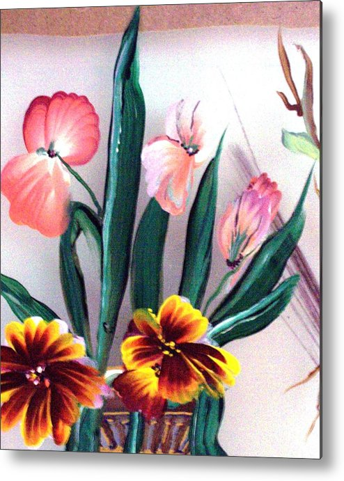 Flower Metal Print featuring the print Untitled by Beverly Baxter