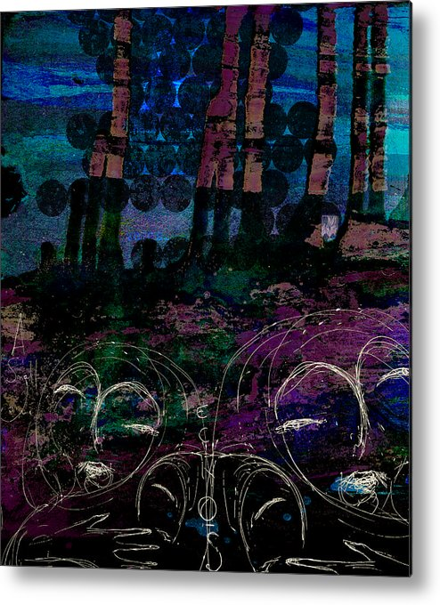 Digital Paintings Metal Print featuring the painting A Small Voice by Mark M Mellon