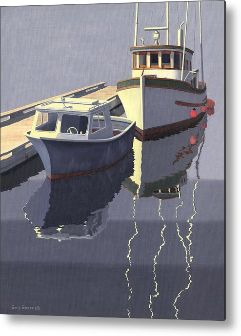 Boat Metal Print featuring the painting After The Rain by Gary Giacomelli