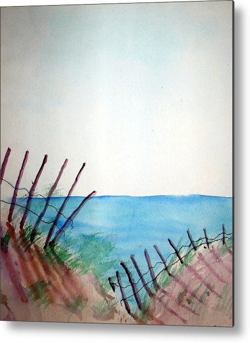 Beach Metal Print featuring the painting Amelia Island by Leigh Odom