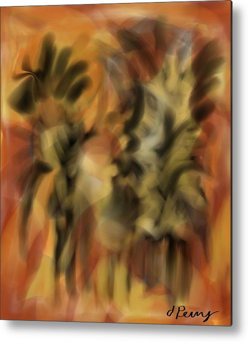 Abstract Art Print Metal Print featuring the painting Autumn Dance by D Perry