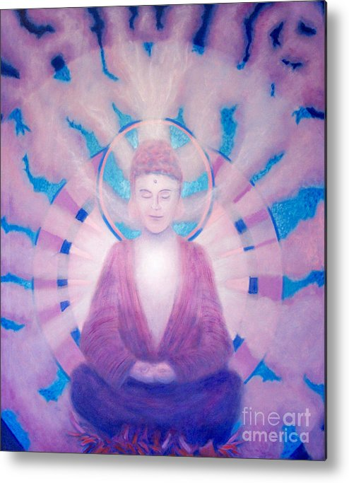 Buddha Metal Print featuring the painting Awakening Buddha by Brian Commerford