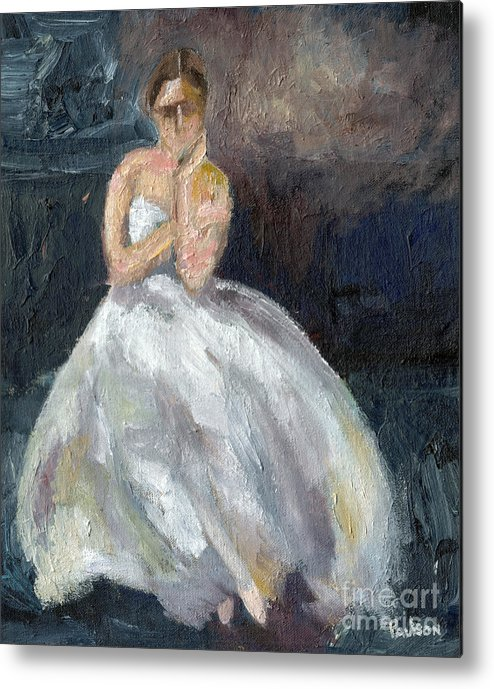 Ballerina Metal Print featuring the painting Ballerina Waiting by Robert Paulson