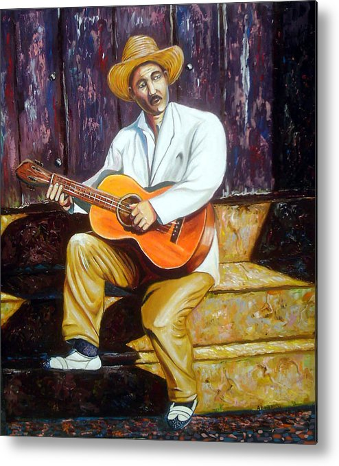 Cuban Art Metal Print featuring the painting Benny by Jose Manuel Abraham