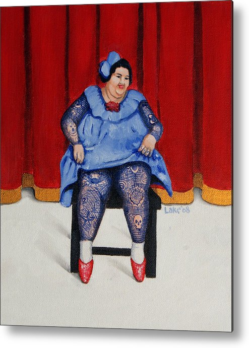 Fat Metal Print featuring the painting Betty 1 by Matthew Lake