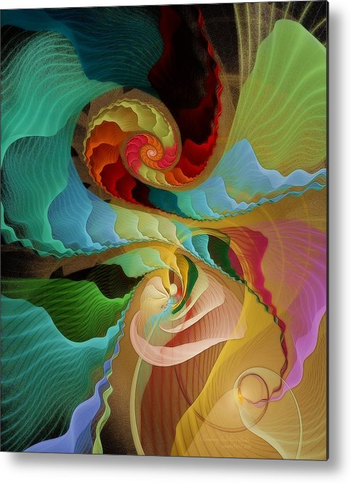 Fractal Metal Print featuring the digital art Blending Into Our Souls by Gayle Odsather