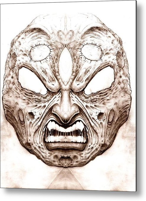 Anger Metal Print featuring the drawing Blind Fury by Will Le Beouf