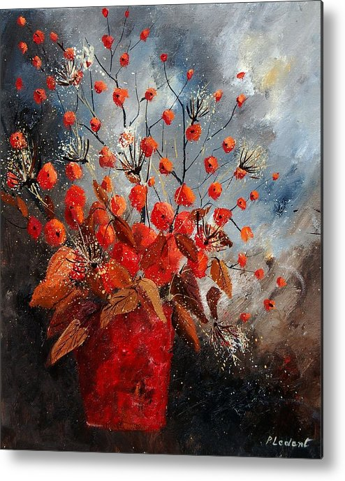 Flowers Metal Print featuring the painting Bunch 560608 by Pol Ledent