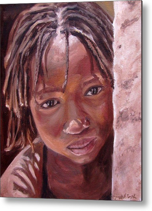 African Girl Metal Print featuring the painting Chantal by Tahirih Goffic
