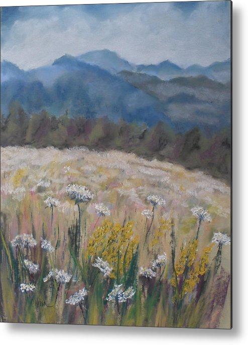 Cherokee Nc Metal Print featuring the painting Cherokee Wildflowers by Cathy Weaver