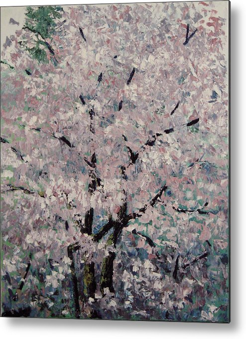 Trees Metal Print featuring the painting Cherry Pink by Paul Illian