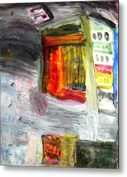 City Metal Print featuring the painting City by Todd Dehart