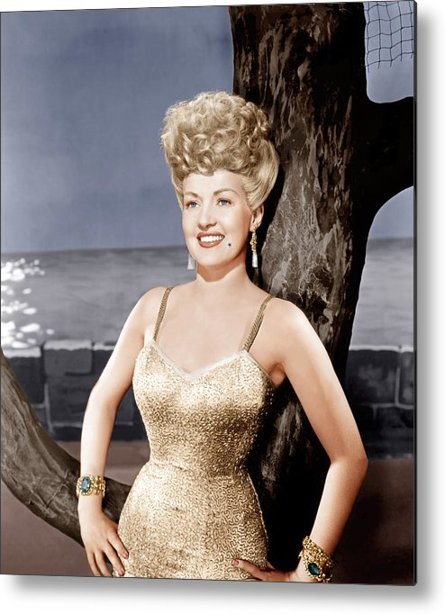 1940s Portraits Metal Print featuring the photograph Coney Island, Betty Grable, 1943 by Everett