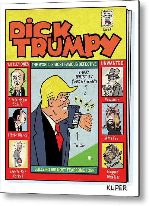 The Misadventures Of Dick Trumpy Metal Print featuring the drawing Dick Trumpy by Peter Kuper