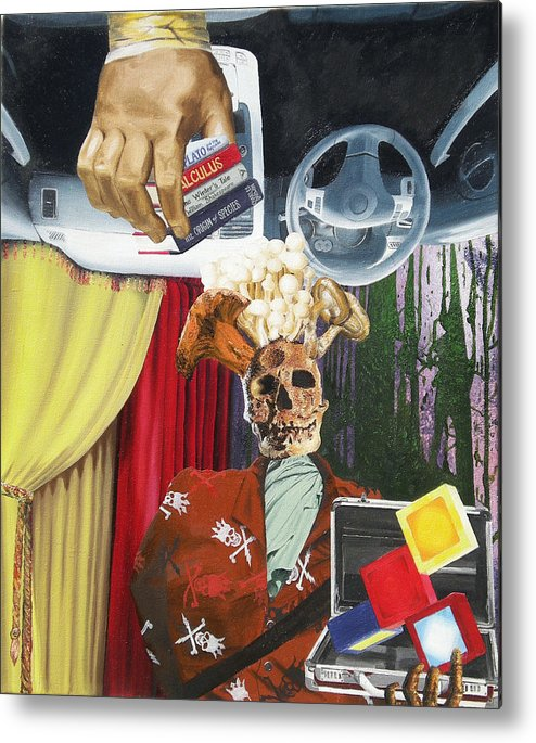 Contemporary Metal Print featuring the painting Equivocal 1 by David Corrigan