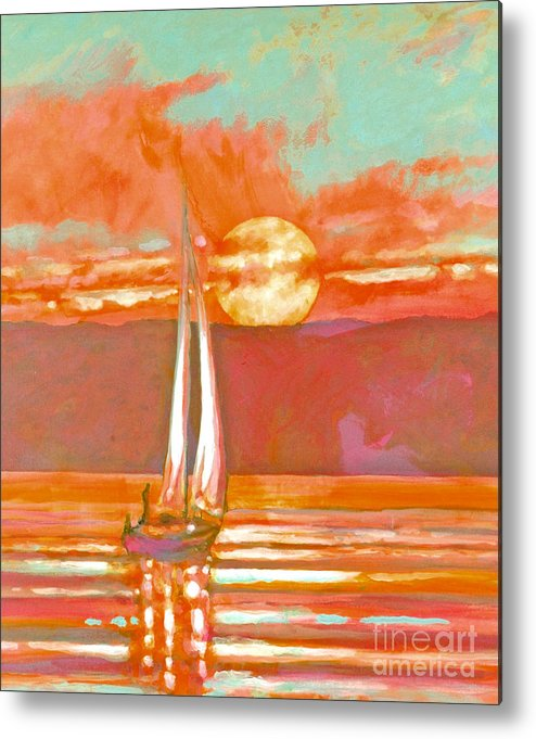 Sailing Metal Print featuring the painting Eventful Evening 2 by Kip Decker