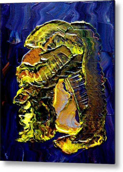 Man Metal Print featuring the painting Exposure by Karen L Christophersen
