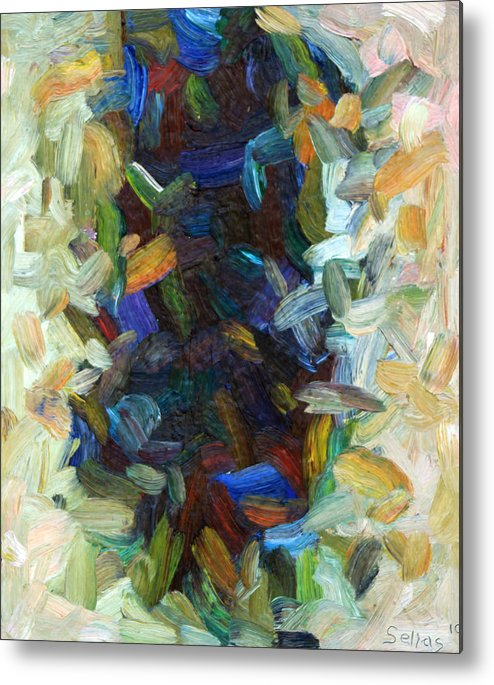 Feathers Metal Print featuring the painting Feathers 27 by Tom Sellas