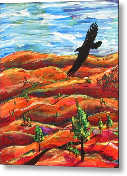 Bird Metal Print featuring the painting Free As A Bird by Rollin Kocsis