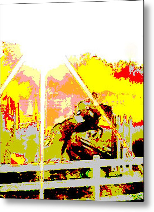 Horse Metal Print featuring the digital art Fun In The Sun by Donna Thomas