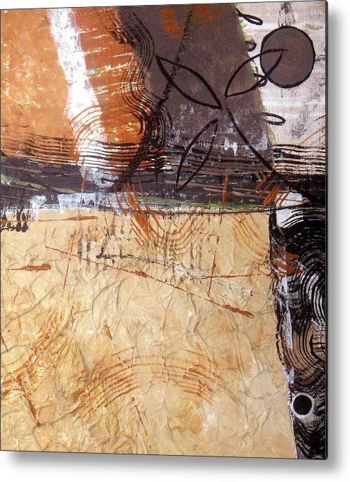 Abstract Metal Print featuring the painting Hidden Treasures II by Ruth Palmer