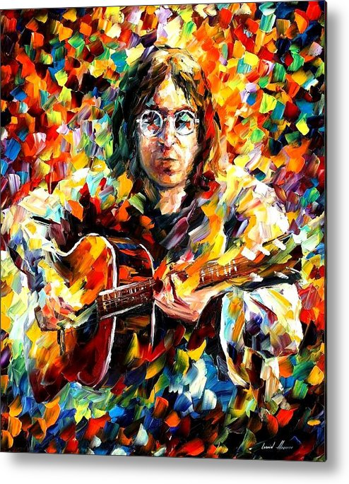 Beatles Metal Print featuring the painting John Lennon by Leonid Afremov