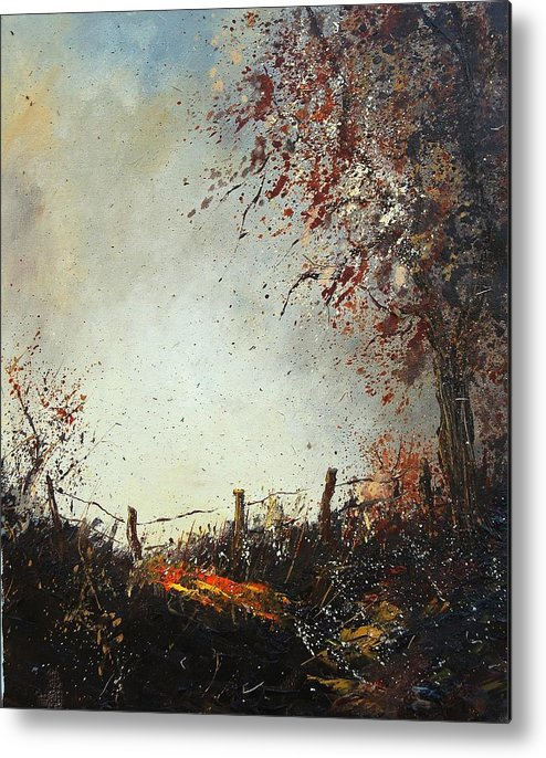 Tree Metal Print featuring the painting Light In Autumn by Pol Ledent