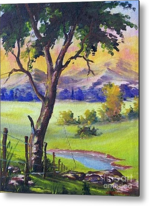 Metal Print featuring the painting Look To The Horizon by Leomariano artist BRASIL