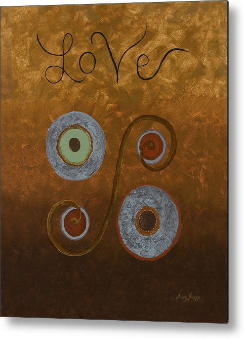 Modern Metal Print featuring the painting Love by Amy Parker