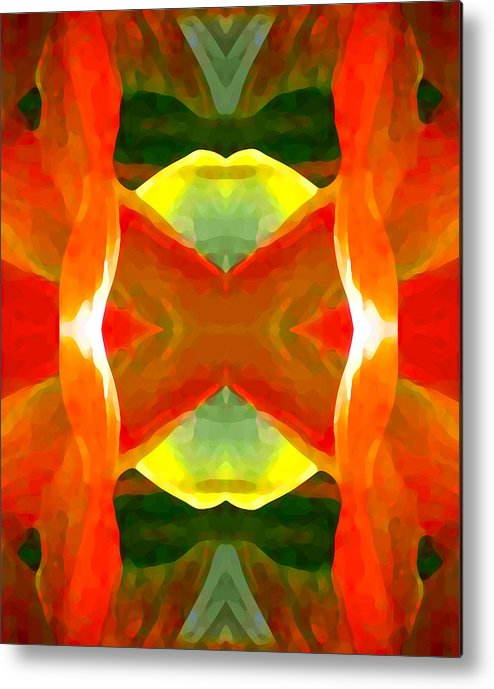 Abstract Metal Print featuring the painting Meditation by Amy Vangsgard