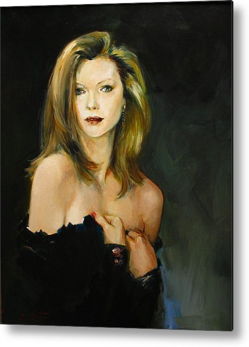 Michelle Metal Print featuring the painting Michelle Pfeiffer by Tigran Ghulyan