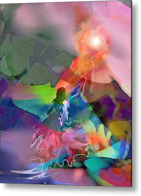 Spiritual Metal Print featuring the digital art Nectar Of Heaven by Tony Macelli