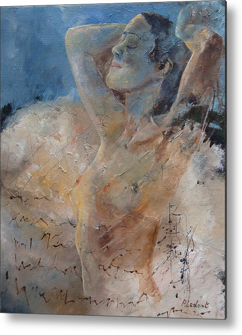 Nude Metal Print featuring the painting Nude 0508 by Pol Ledent