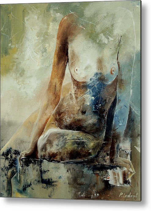 Nude Metal Print featuring the painting Nude 560408 by Pol Ledent