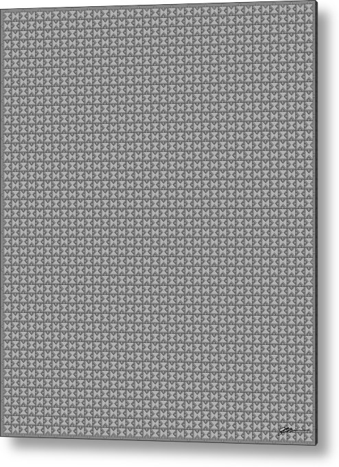 Pandora Metal Print featuring the digital art Pandora's Puzzle Greys by Jerry Watkins