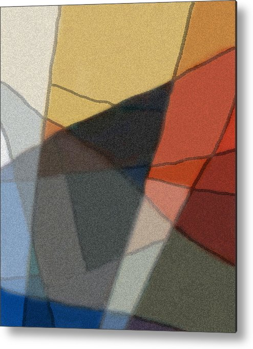 Abstract Metal Print featuring the digital art Patches In Harmony Abstract by Karla Beatty