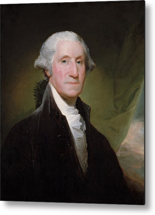 George Washington Metal Print featuring the painting President George Washington by War Is Hell Store