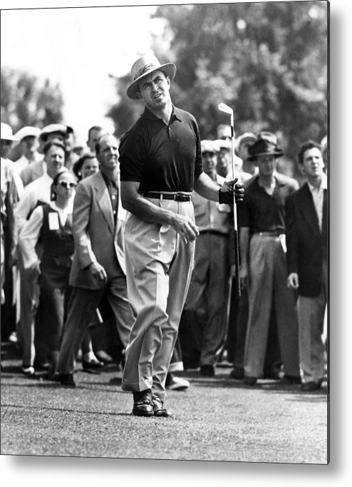 1950s Candids Metal Print featuring the photograph Sam Snead 1912-2002, American Golfer by Everett