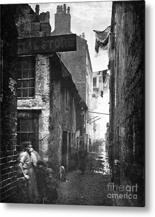 1868 Metal Print featuring the photograph Scotland: Glasgow, 1868 by Granger