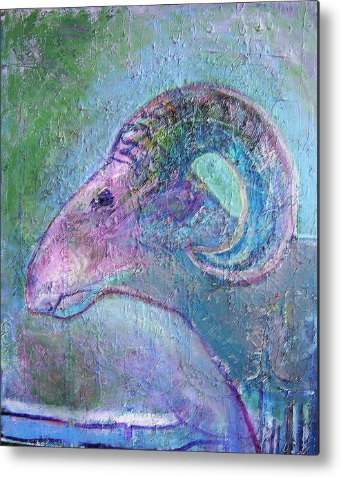 Sheep Animals Metal Print featuring the painting Sheep by Dave Kwinter