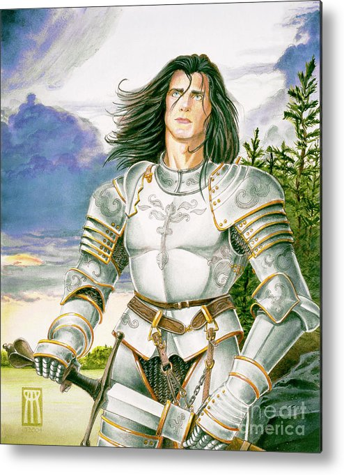 Swords Metal Print featuring the painting Sir Lancelot by Melissa A Benson