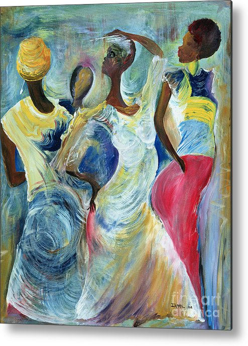 African Metal Print featuring the painting Sister Act by Ikahl Beckford